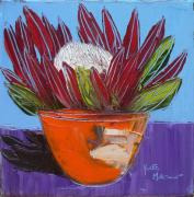 YM 06: Protea in Orange Bowl