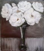 CON YM: White Flowers in Vase